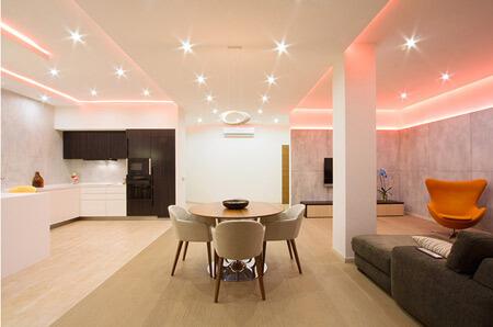 Ứng dụng của đèn led cho nhà ở giúp không gian trở nên lung linh