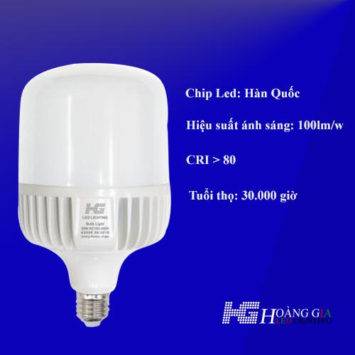 Led Bulb thân nhôm HG