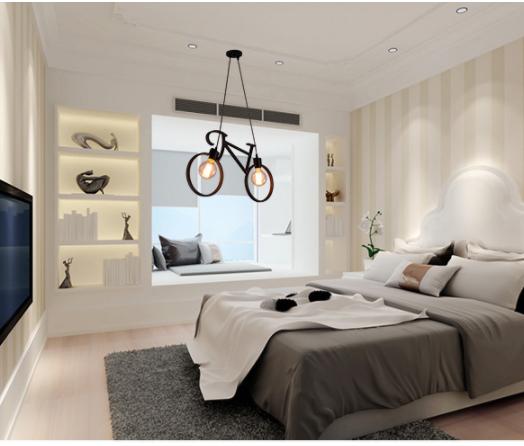 Đèn thả trang trí phòng ngủ ấn tượng