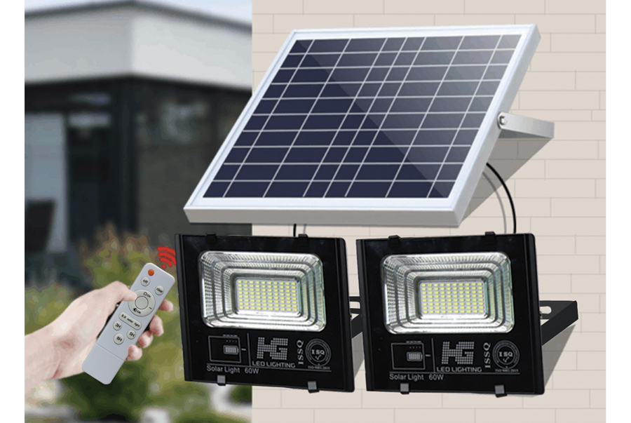 Đèn năng lượng mặt trời loại 2 bóng
